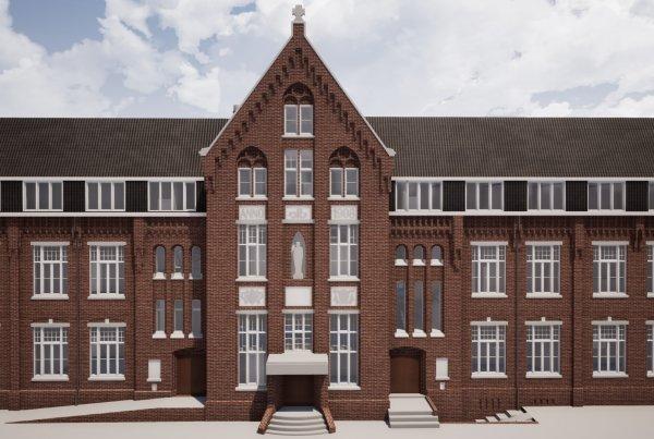 Referentie Klooster Sittard voor aanzicht Van Ierssel