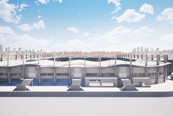 Referentie Sport Willem II stadion Tilburg zij aanzicht Van Ierssel