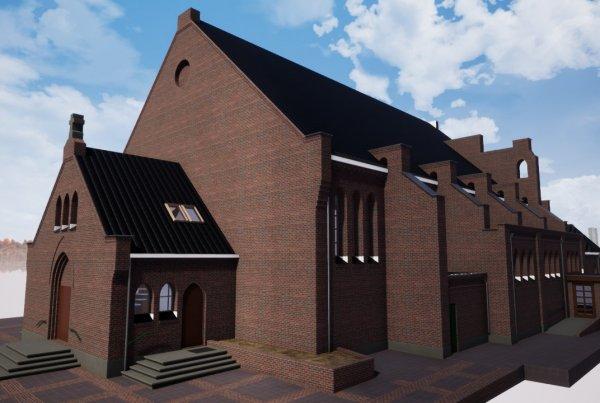 Referentie kerk te Valkenswaard voorgevel Van Ierssel